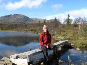 Lillådammen som jag och goda vännen J passerade  när vi gick Björnentriangeln. En fin dagstur som går via Fröågruva upp mot Åreskutans baksida.