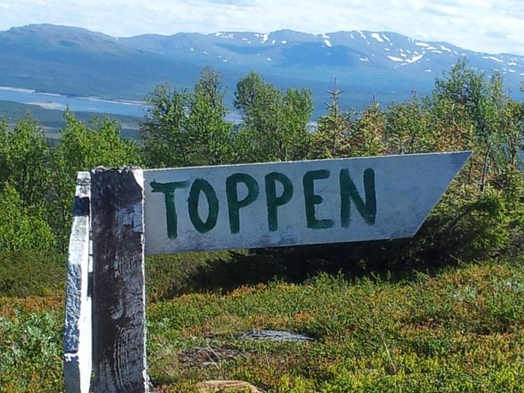Den här skylten hittade vi på vägen ner och det var precis så jag kände mig :)