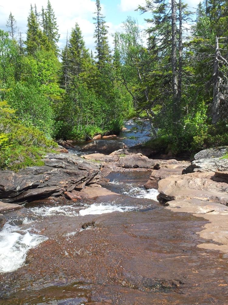 I slutet av vandringen dök den här ån upp. Om det hade varit varmare hade det varit läge för ett dopp.