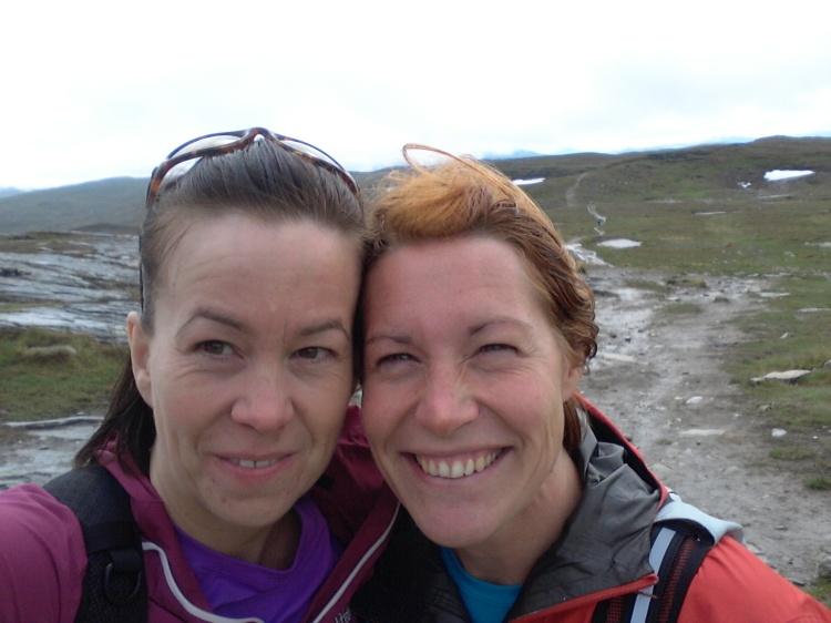 Både jag och Ingela såg fram emot löpningen ner till Storulvåns fjällstation.