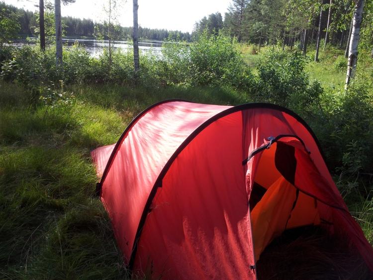 Dalarna bjöd på en fin tältplats innan vi begav oss längre söderut.