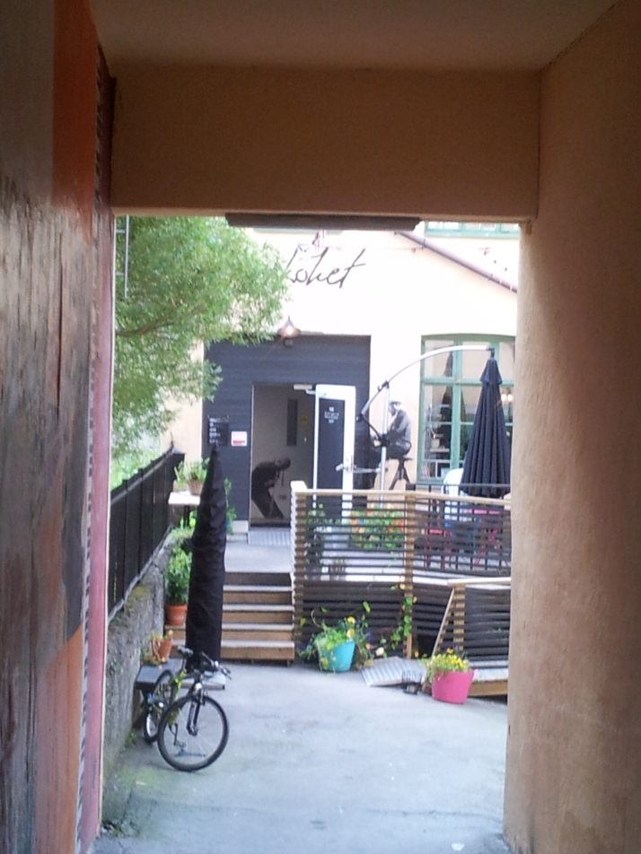 Eftermiddagen avslutades med sen brunch på Jazzkökets uteservering.