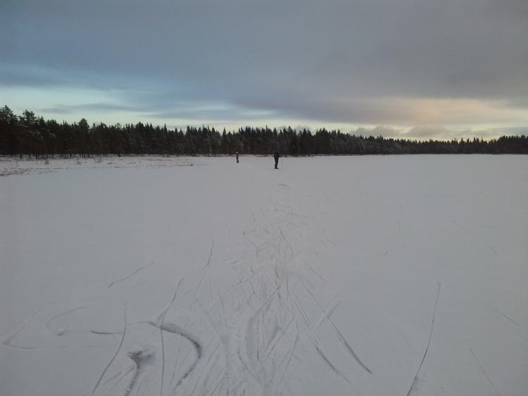 Svartsjöarna, 2:a december 2012. En fin skridskodag.