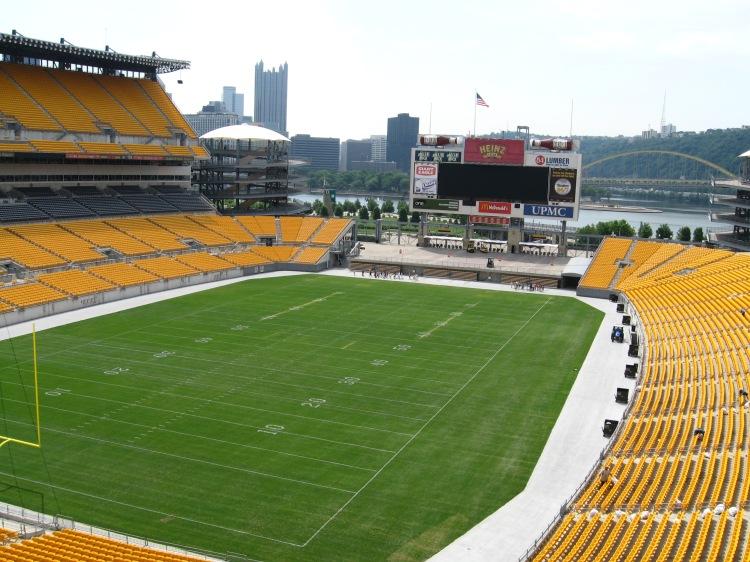 Heinzfield i Pittsburgh, hemmaplan för Pittsburgh Steelers. Vi var på en guidad visning av denna häftiga arena. Värt varenda spänn.